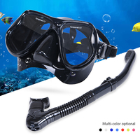 Diving Masks Goggle Professional Adult Swim Full Dry Silicone Snorkel Tube Set Men Women Diving Swimming Water Sports Equipment