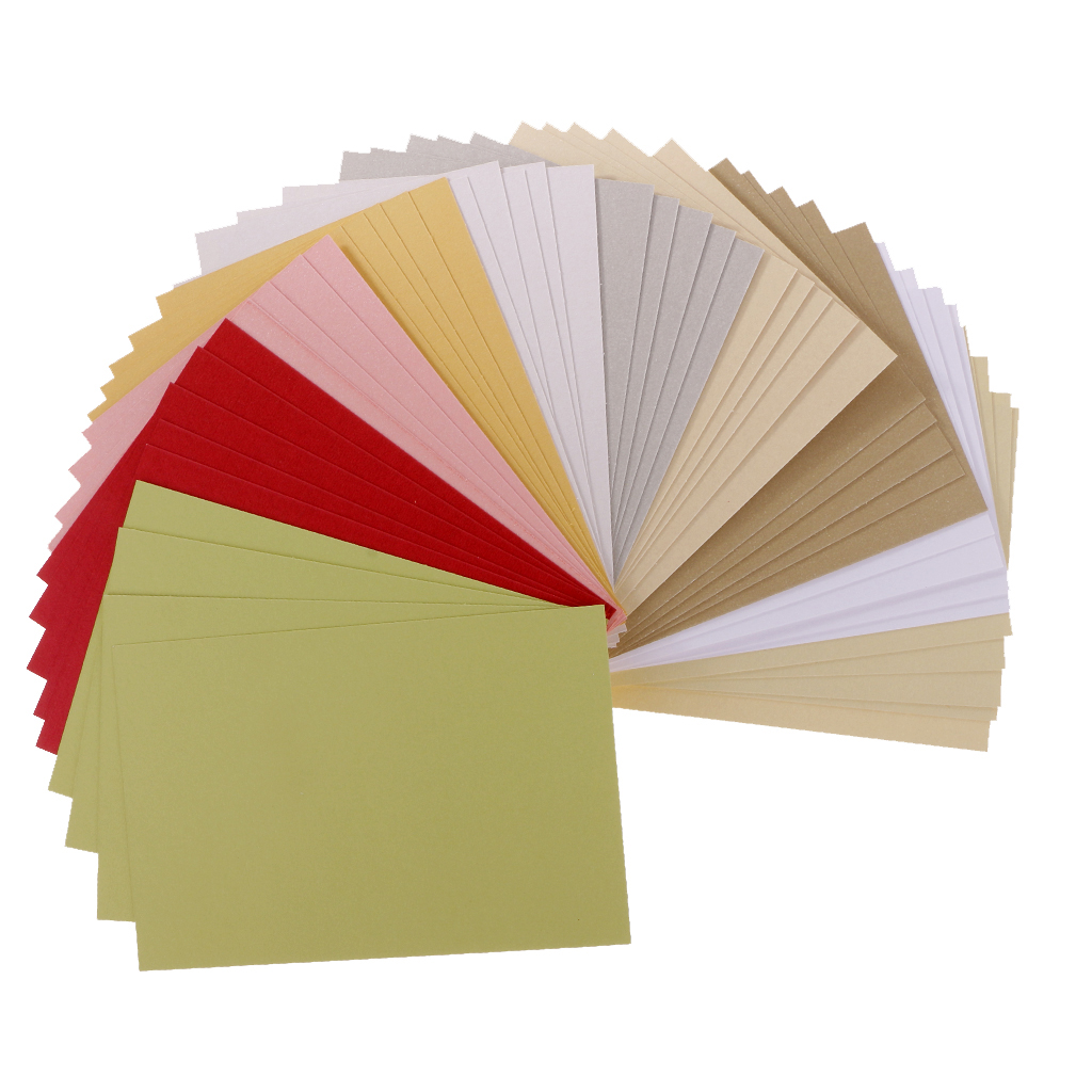 50 Sheets/Pack Scrapbooking Pearlescent Paper Cardstock DIY Handmade Card For Crafts
