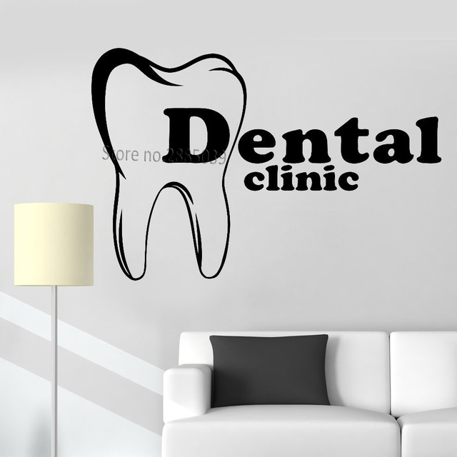 Merveilleux New Style Dental Clinic Logo Wall Stickers Vinyl Dental Care Teeth Hospital Sticker  Office Decals Wall