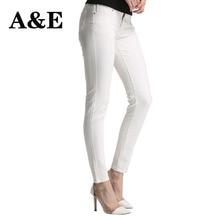 Alice & Elmer Skinny Jeans Woman Jeans For Girls Jeans Shortened Women Mid Waist Stretch Jeans Female Pants White