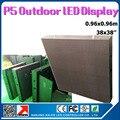 Водонепроницаемый P5 открытый светодиодный видео стены 960 х 960 мм 1/8 сканирования SMD rgb полноцветный светодиодный дисплей кабинет
