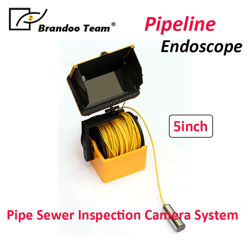 BRANDOO 20M Screen Drain Pipeline Endoscope Camera Pipe Sewer Inspection Camera system