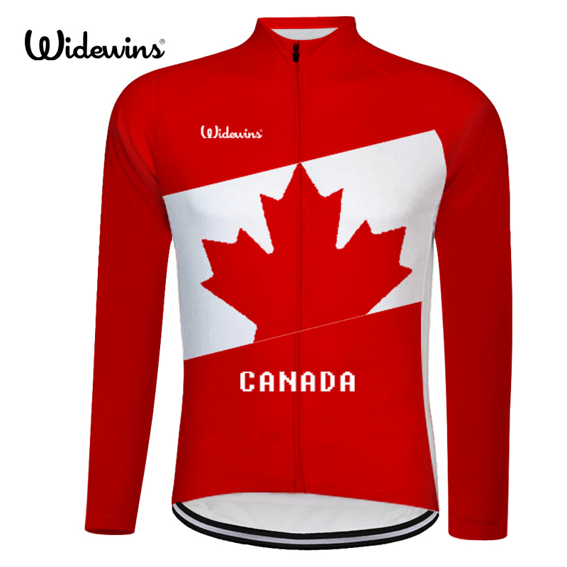 캐나다 고품질 프로 팀 레이스 훈련 사이클링 저지 긴 소매 도로 mtb 전체 gules 자전거 옷 무료 배송 8001