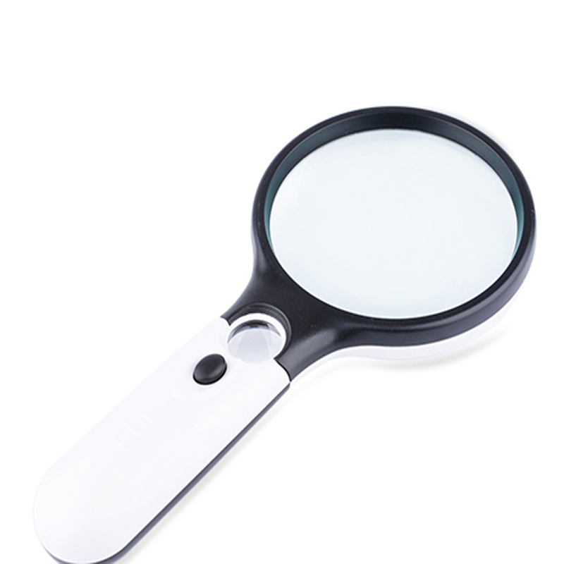 HD handheld 10x magnification reading magnifier with LED light old reading tools Family home use Reading reading