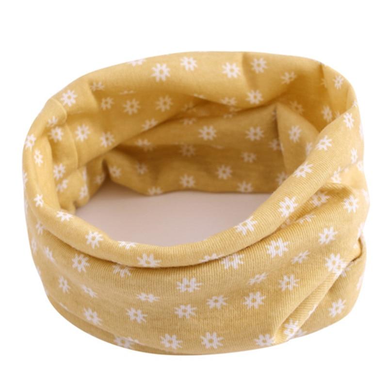 Весенний детский хлопковый шарф, теплый шарф для маленьких детей, осенне-зимние шарфы с героями мультфильмов для мальчиков и девочек, детский воротник с круглым вырезом, волшебный шейный платок - Цвет: 36