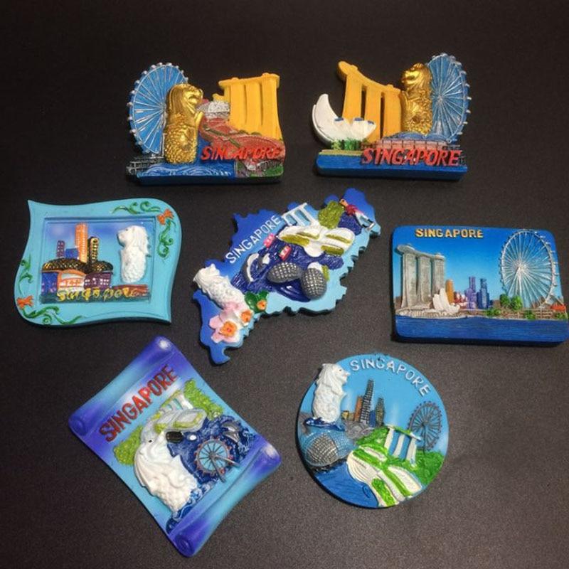1 Pz Singapore Souvenir Magneti Frigo Viaggi Turismo Souvenir Frigorifero Adesivi Magnetici Artigianato Regalo Per Complementi Arredo Casa