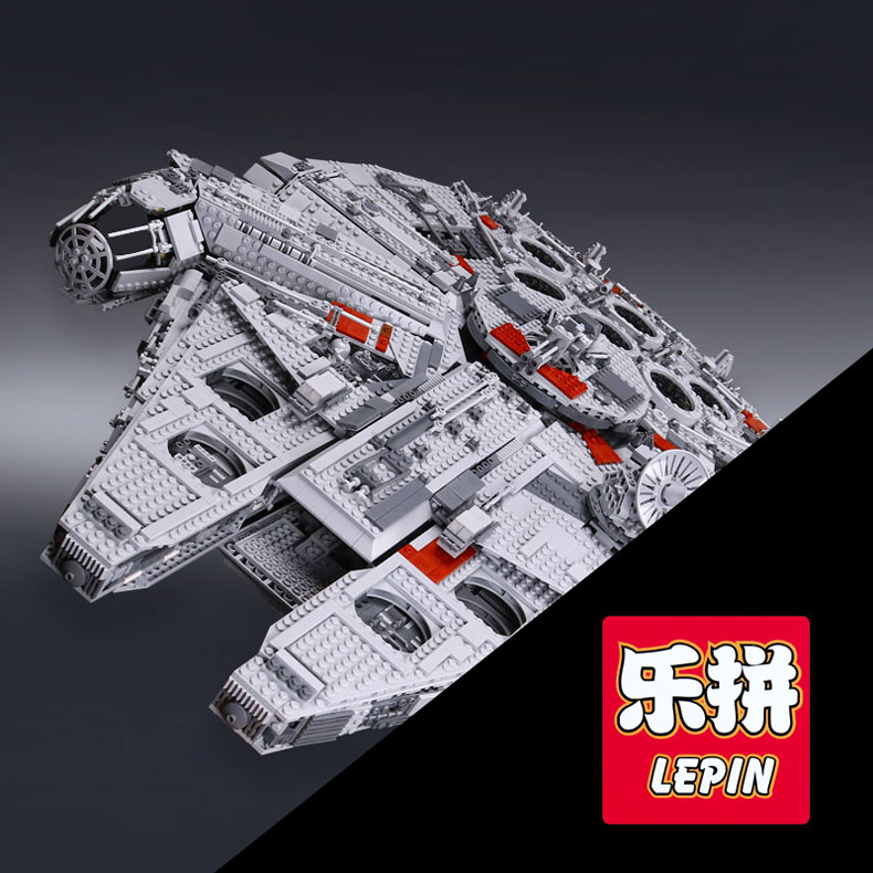 LEPIN 05033 Star 5265Pcs Wars Ultimate Millennium Collector's Falcon Model Building Kit Blocks Bricks DIY Toy Compatible 10179 lepin 05033 star wars ultimate collector millennium falcon model building blocks kit brick toy compatible 10179 kid gift set