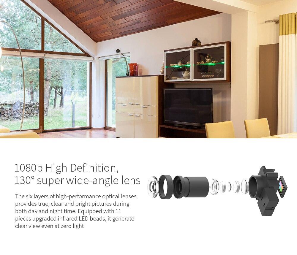 Yi Ev Kamera 2 1080 P FHD Akıllı Kamera Ev Güvenlik Mini Webcam - Güvenlik ve Koruma - Fotoğraf 5