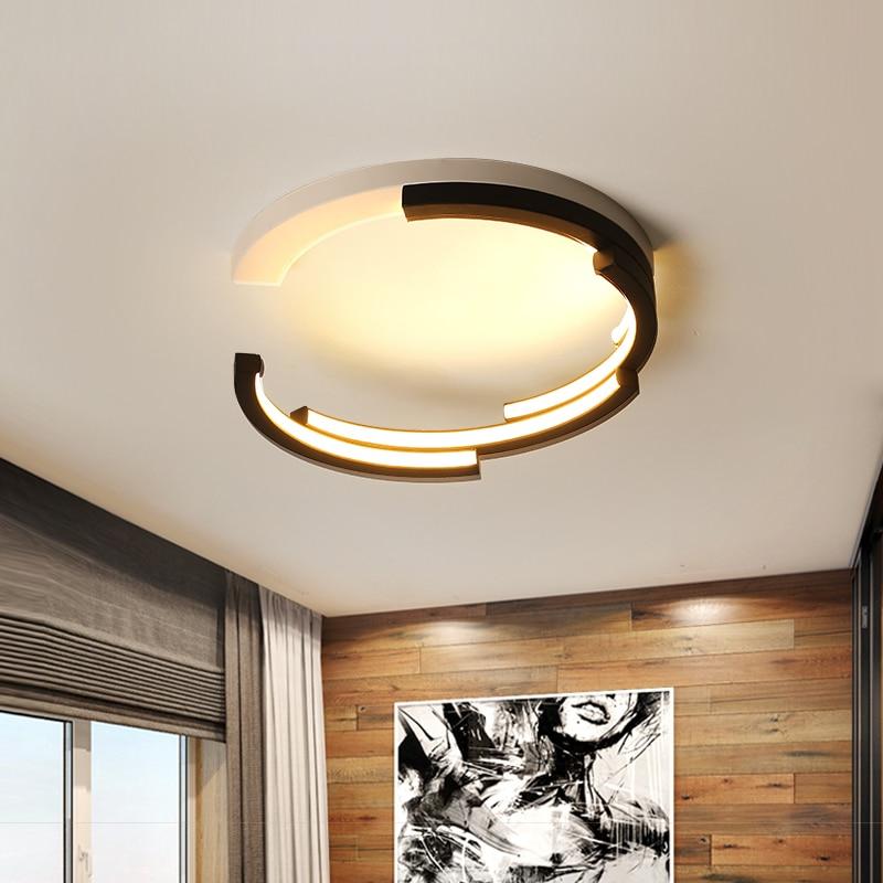 Creative Deco Modern LED Ceiling Lights Living Room Bedroom Study White And Black Ceiling Lamp Plafonnier LED lamparas de techo все цены