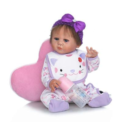 22 Full silicone reborn baby doll lifelike play house reborn girl babies collection girl brithday gifts brinquedos bathe toy christmas gifts in europe and america early education full body silicone doll reborn babies brinquedo lifelike rb16 11h10