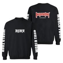 BTS 2017 Justin Bieber Purpose Tour Hoodies Sweatshirts Men/women 4XL For Winter Autumn Hoodies outwear clothes xxxxl