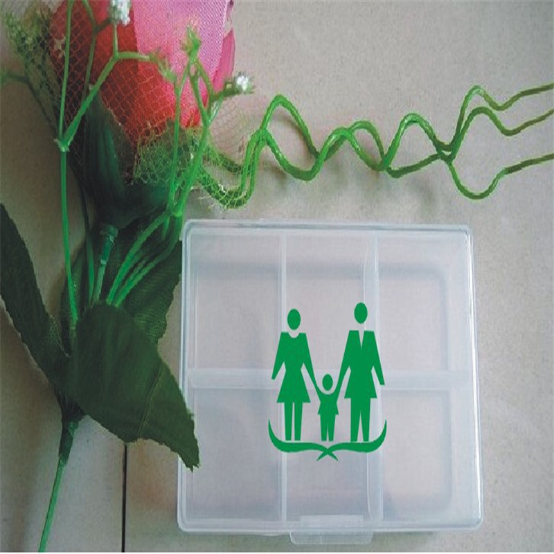 5pcs/Bags 6 box Box Transparent Box Portable Travel Convenience PP Material Plastic box To Ensure That The new Material no Smell