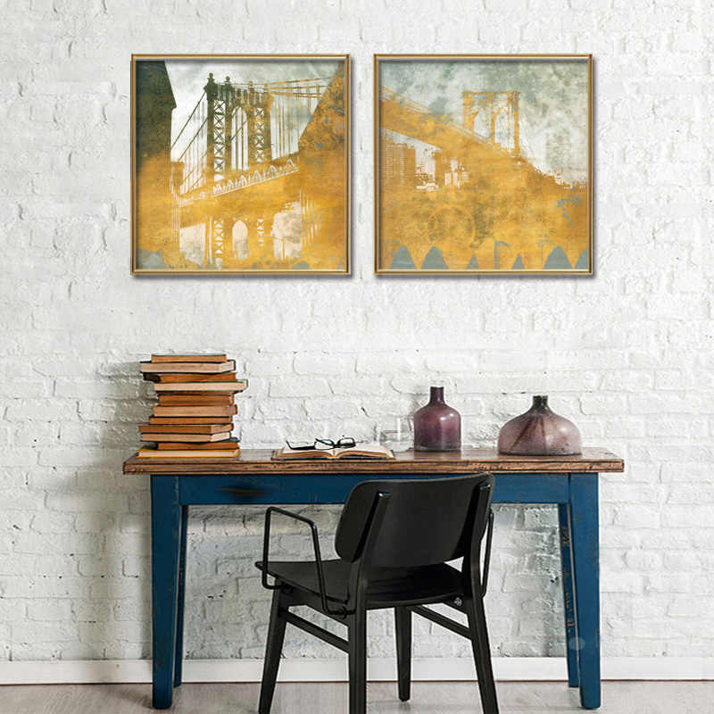 2 Pieces/set Still Landscape poster series Wall Art For Wall Decor Home Decoration Picture Paint on Canvas Prints Painting