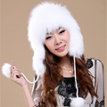 Women Real Fox Fur Hats Luxury Autumn Winter Genuine Handmade Knitted Solid Fashion Lady Warm Lady Beanies Headgear