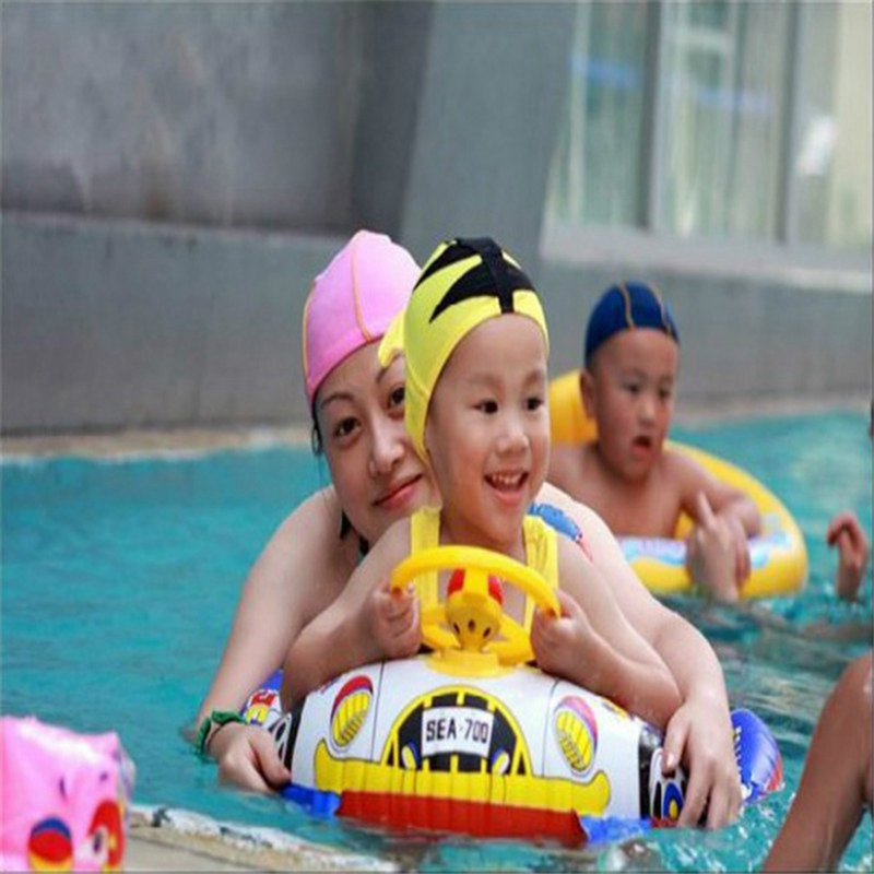 Cute Baby Inflatable Swimming Pool Ring Seat Floating Car Shape Boat Aid Trainer With Wheel Horn Suit Pool Rings Float