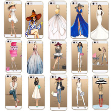 Fashion Girls Cover For Apple Iphone 7 7Plus 6 6S 5 5S SE 4 4S Cases