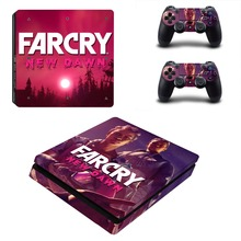 Far Cry Farcry New Dawn PS4 Slim Skin Sticker For PlayStation 4 Console and 2 Controllers PS4 Slim Skins Sticker Decal Vinyl