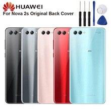 Original Glass Battery Rear Case For Huawei Nova 2S Back Cover Phone Backshell Cases