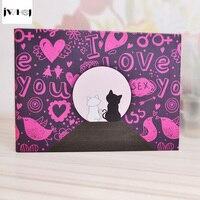 JWHCJ Aşk kedi 10 inç Fotoğraf Albümü Düğün Fotoğrafları çocuklar Aile Bellek Kayıt Scrapbooking Albümü El Yapımı Yapışkan Tipi scrapbooking