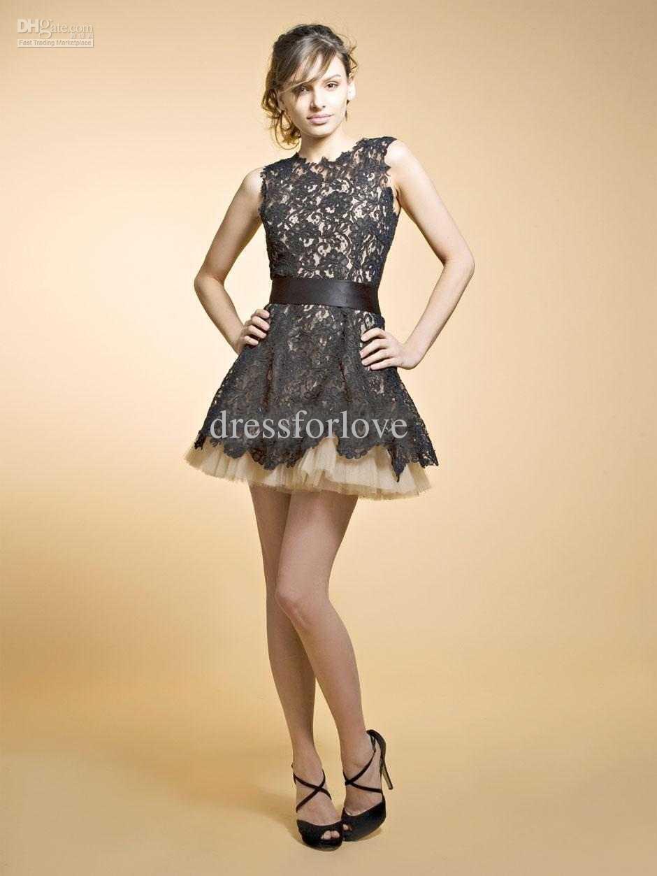 2018 vestidos Custom brooklyn decker nha khanh Black Short Mini custom Lace Sleeves Prom party gown cheap Bridesmaid Dresses