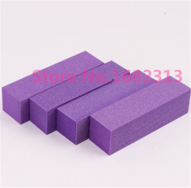 цены 10pcs purple 23*23mm Buffer Buffing Sanding Files Block Acrylic Nail Art Tips Manicure Tool wholesale Hot Selling