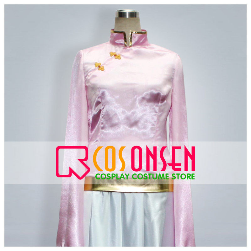 COSPLAYONSEN Hetalia Taiwan Cosplay Costume Pink and White Dress All Size New
