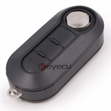 Replacement Remote Key Fob 3 Button 433MHz ID46 Chip for Fiat 500L Grande Punto Uncut Blade 519