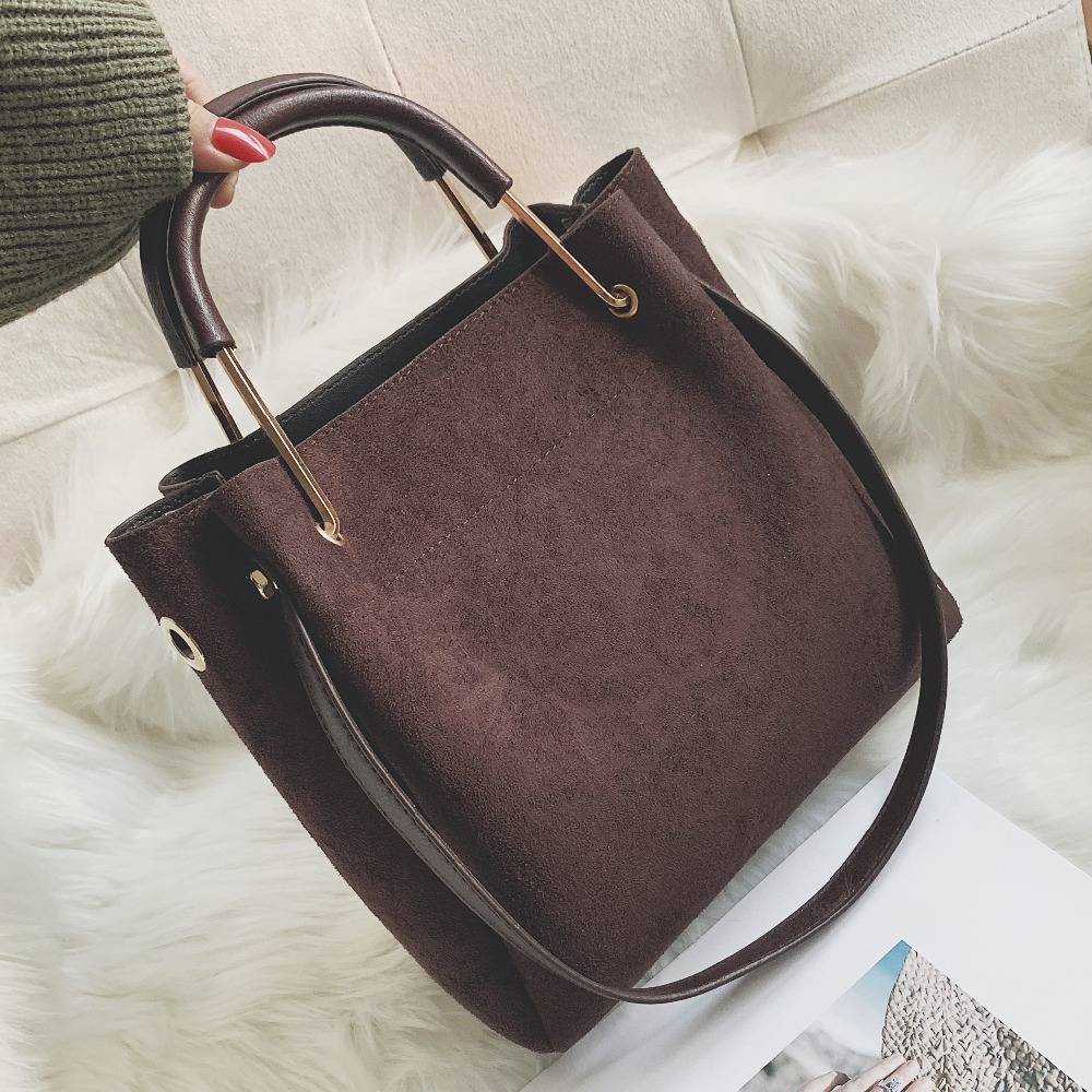 Vintage leather Womens Tote Bags Luxury Faux Suede Crossbody Bags Ladies Handbags and Purses Female Solid color Shoulder BagsVintage leather Womens Tote Bags Luxury Faux Suede Crossbody Bags Ladies Handbags and Purses Female Solid color Shoulder Bags