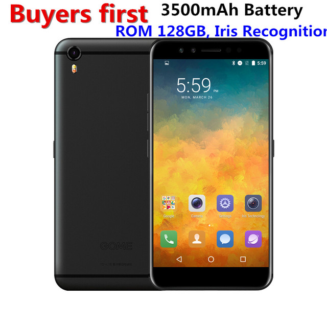 "GOME K1 4GB RAM 128GB ROM MTK6757 2.3GHz Octa Core mobile phone 5.2"" FHD Android 6.0 Iris Recognition 4G LTE 16.0MP Smartphone"
