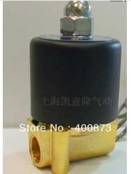 "Zn Alloy Parts Electric Solenoid Valve Water Air N/C 1/4"" DC12V/24V AC110V 220V"