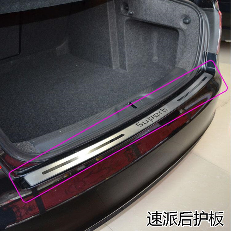 High quality stainless steel Rear bumper Protector Sill For 2013 2014 2015 Skoda Superb