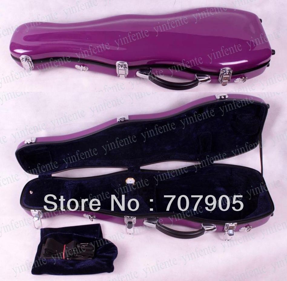 Здесь можно купить   Violin Case 4/4 Glass fiber case Waterproof Light Durable Dropshipping Wholesale purple Спорт и развлечения