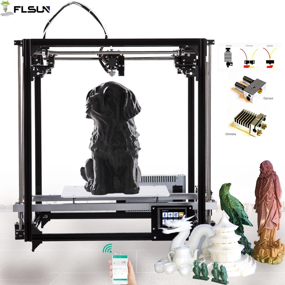 2019 Flsun cube Large Printing Area 3D Printer 260x260x350mm Large size Auto leveling 3D Printer Diy