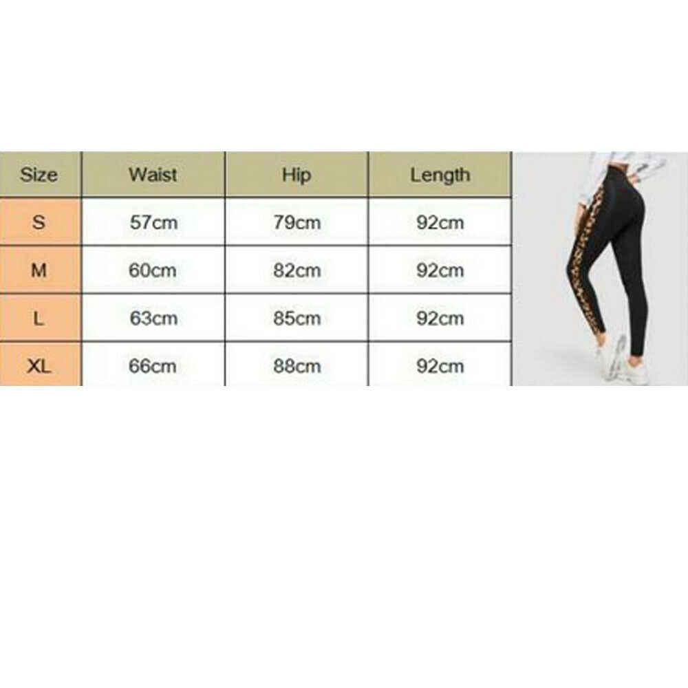 Yeni Stil Bayan kadın pantolonları Siyah Leopar Patchwork Spor Yüksek Bel Rahat Uzun Sıska kalem pantolon Moda Sıcak
