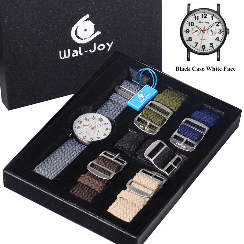 Fashion Trend Wal-Joy Brand Student Personality Dial 30M Life Waterproof Men Casual Quartz Watch Set with 6 Nylon Straps (8004) fundamentals of physics extended 9th edition international student version with wileyplus set