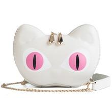 2018 New Cartoon Cute Cat Pattern Shoulder Bag Designer Handbags High Quality Women Messenger Bags