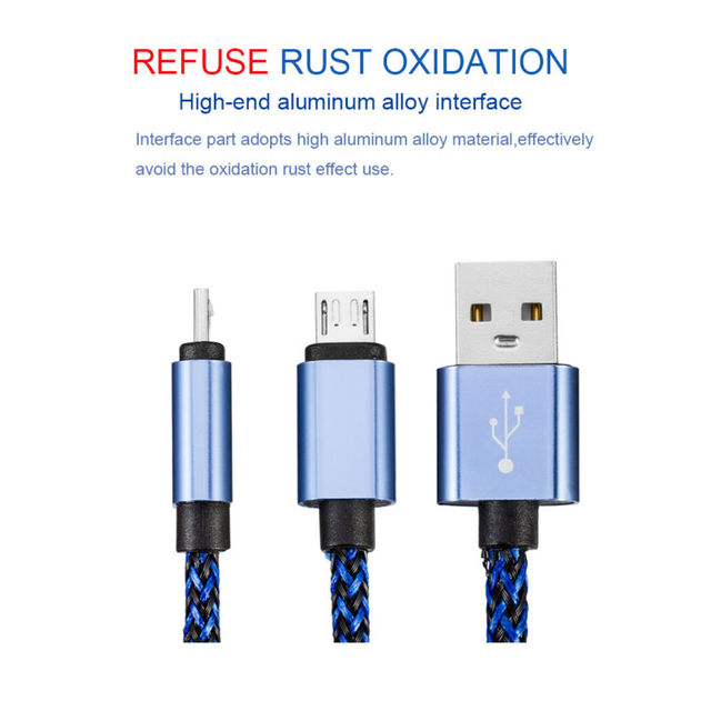 5V2A Micro USB cable 1/2/3M Fast Charging Adapter Power Bank Cable Charger For iphone 7 5 5S 6 6Plus Samsung HTC Huawei xiaomi