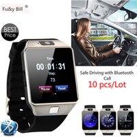 (10 шт./лот) DZ09 Bluetooth Smart часы с Камера для Samsung S5/Note 2/3/4, Nexus 6, sony и Другое Android смартфон