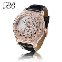 Top Brand Priness Butterfly Watch Women Popular Rhinestone Watch Stainless Steel Back Water Resistant OEM Watch Woman HL586