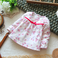 Free Shipping Retail New Arrival 2013 Spring Autumn Kids T Shirt Top Cute Baby Girl Long