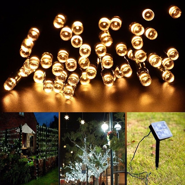 christmas lights outdoor solar powered light 21m 200 leds waterproof fairy string lights lamp for halloween