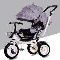 2018 новая детская трехколесная коляска амортизатор Надувное колесо детская велосипедная коляска