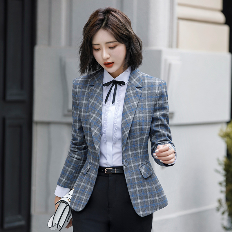 Suits & Sets Steady 2018 Spring Autumn Fall Black Blue Uniform Styles Formal Blazer Women Jackets Coat Office Lady Work Wear Tops Suit Blaser Pant Suits