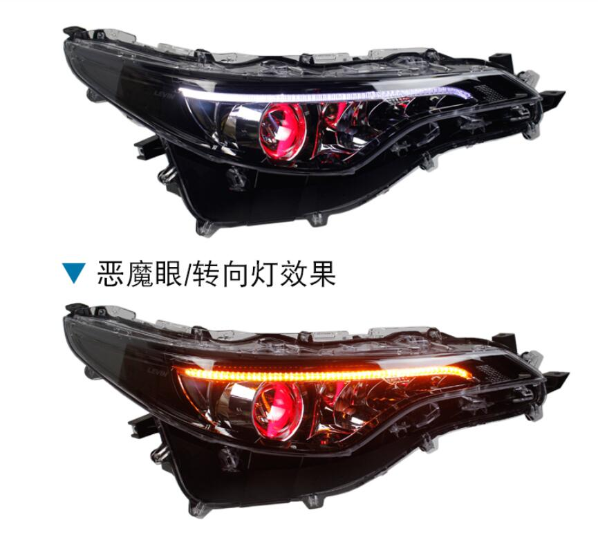 1set Car Bumper Head Light For Toyota Levin Headlight 2017~2019year LED/HID Xenon Corolla Auris Axio Head Lamp Levin Fog Light