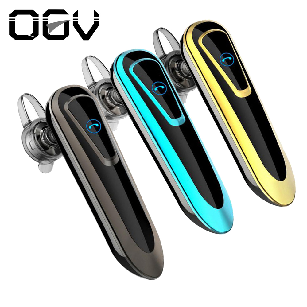 OGV Brand New High Capacity Battery Earphones Bluetooth Earpiece Hands Free Earbuds Wireless Ear Hook Bluetooth Earphone