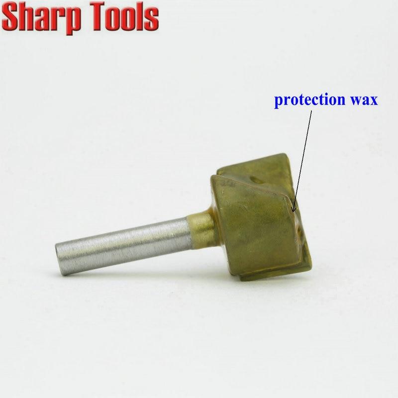 Router Bit 6 mm Shank 32 mm dia 60 Degré V-Groove Fraise en acier tungstène pour CNC