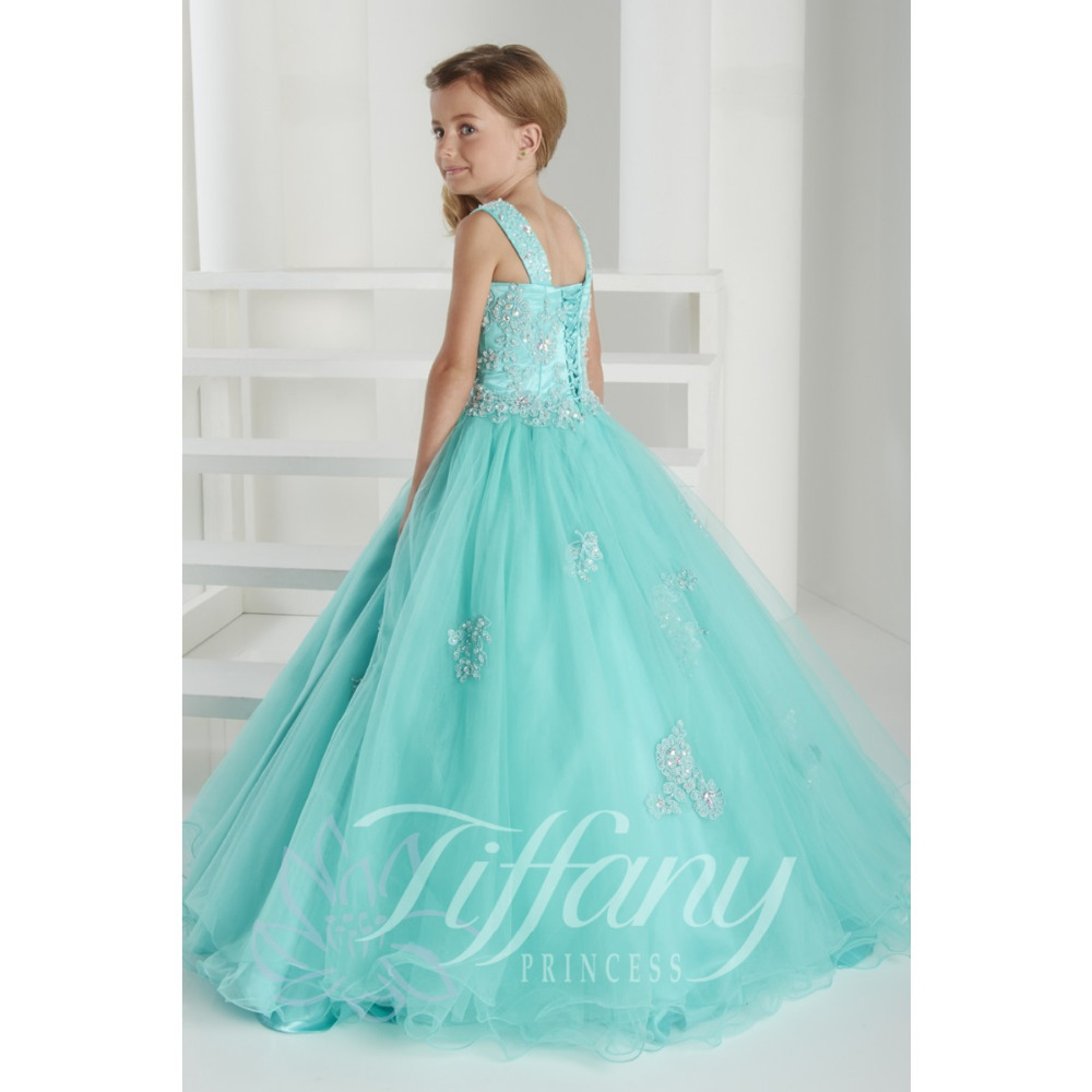 2015 New TF Pink/Turquoise Pageant Party Dresses for Little Girl ...