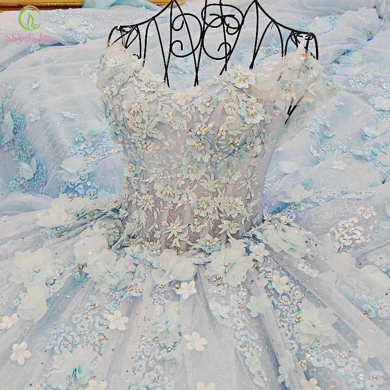 2018 Luxury Lace Flowers High-grade Sweet Romantic Crystal Beading Banquet Ball Gown Party Formal Mother Of The Bride Dresses