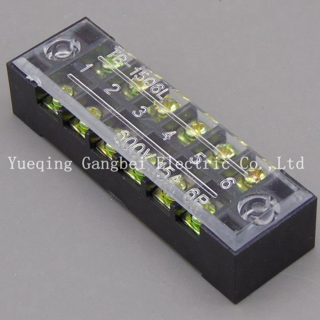 Awe Inspiring Terminal Blocks Tb 1506 15A 6P Patch Panel Wiring Row Junction Box Wiring Cloud Hisonuggs Outletorg