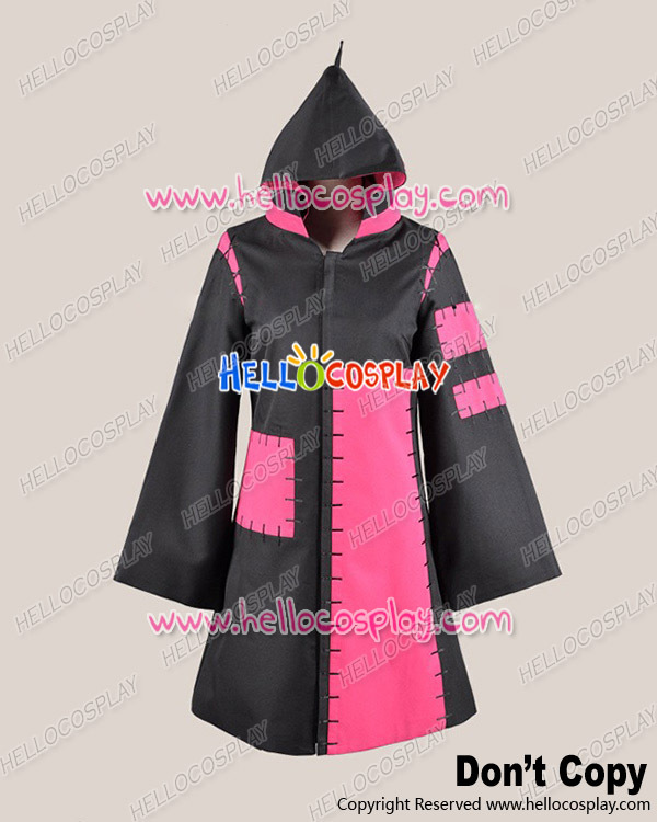 Vocaloid 2 Cosplay Tokyo Teddy Bear Kagamine Rin Black Pink Costume H008
